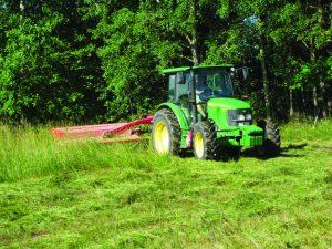 cutting tall grass